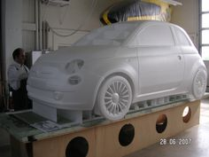 Moulding and constructing the body of the radio controlled flying Fiat 500