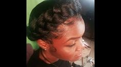 how to do a halo braid with weave - YouTube