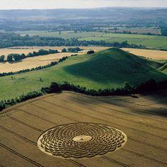 Crop Circle at Woodborough, Wiltshire, UK - 13 August 2000