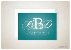 Custom Wedding Monogram / Logo - Three Letters Script Initials. $10.00, via Etsy.