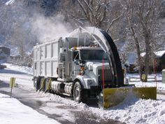 Photos « Mobile, truck-mounted and stationary in-ground snow melters for municipal, airport, contractor, and resorts - Snow Removal Systems Dump Trucks, Tow Truck, Old Trucks, Equipment Trailers, Logging Equipment, Heavy Construction Equipment, Heavy Equipment, Snow Removal Equipment, Snow Vehicles