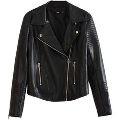 Pure Black Slanted Zipped PU Leather Jacket ($81) ❤ liked on Polyvore featuring outerwear, jackets, leather jacket, tops, pleather jacket, leatherette jacket, zipper jacket, zip jacket and pu leather jacket
