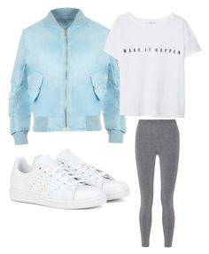 """""""Everyday look #1"""" by szokejm ❤ liked on Polyvore featuring WearAll, adidas, MANGO, T By Alexander Wang, women's clothing, women, female, woman, misses and juniors"""