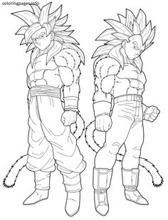 ssj4 goku coloring pages 504
