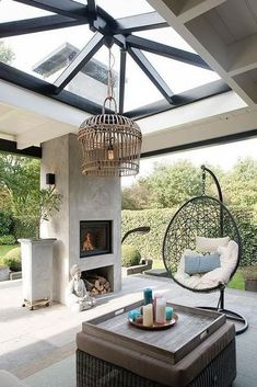 | 1004 Backyard Beach, Backyard Patio, Backyard Shade, Back Gardens, Outdoor Gardens, Fireplace Garden, Fireplace Design, Patio Interior, Modern Interior