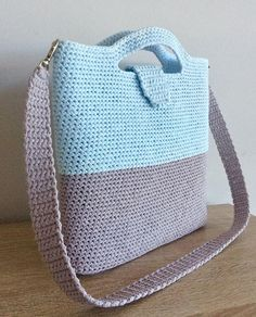 backpack diaper bags for you Crochet Beach Bags, Crotchet Bags, Crochet Market Bag, Knitted Bags, Crochet Purse Patterns, Crochet Stitches, Knit Crochet, Crochet Handbags, Crochet Purses