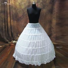 P008 YiaiBridal Crinoline 6 Hoops Petticoats For Wedding Dress Ball Gown