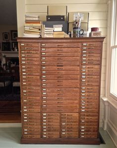 "This Artist's Artifacts - April 2015 Blog Post.  ""Patience's legal filing cabinet that was passed down from her Great Grandfather."""