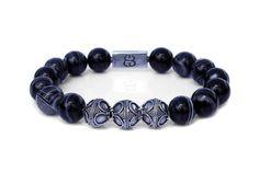 Black and White Agate Stone Bracelet, Bead Bracelets Men, Men's Designer Bracelet, Bracelets for Men, Men's Luxury Bracelet, Black Braclet by KartiniStudio on Etsy https://www.etsy.com/listing/532547497/black-and-white-agate-stone-bracelet