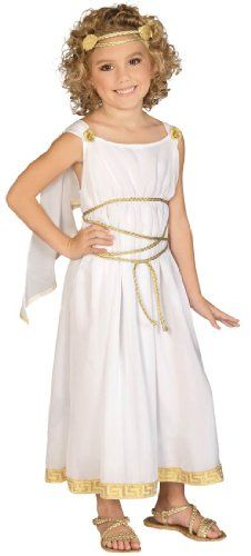 Grecian Goddess Greek Roman Toga Queen Fancy Dress Up Halloween Child Costume Grecian Goddess Greek Ro Roman Toga, Roman Dress, Costume Craze, Girl Costumes, Roman Costumes, Biblical Costumes, Athena Costume, Medusa Costume, Grecian Dress