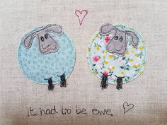 Original textile art sheep sheep picture applique art