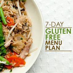 A 7 Day Gluten Free Dinner Menu that is actually delicious! It makes gluten free easy peasy :-)