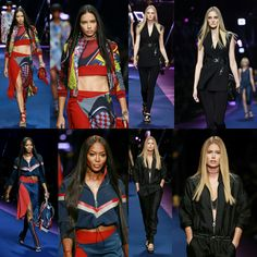 @adrianalima, @trentinireal, @iamnaomicampbell and @doutzen at the @versace-official show during #MilanFashionWeek in Milan yesterday. #MFW • • • • • • • • • • • • • • • • • • • • • • • • • • • • •  #AdrianaLima, #CarolineTrentini, #NaomiCampbell e #DoutzenKroes no desfile da @versace-official durante a #MilanFashionWeek em Milão ontem. #MFW