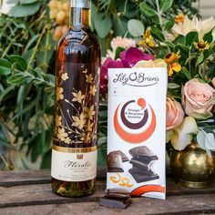 """Floralys is a Spanish vino de licor, meaning plump muscatel grapes are crushed and grape spirit is added to the juice before fermentation.  This makes it an intensely aromatic, naturally sweet wine with vivid orange notes and it's therefore a perfect partner for the Orange & Bergamot Ganache, accentuating the vivid, zesty orange flavours and subtly developing the exotic bergamot smokiness on the finish."""