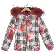 5561c67f4 Plumífero rojo reversible de la marca Elsy en Abrigos y Cazadoras para niña.