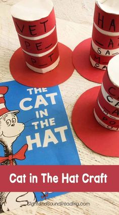 Cat in The Hat Craft https://www.sightandsoundreading.com/cat-in-the-hat-craft-for-preschoolers/?utm_campaign=coschedule&utm_source=pinterest&utm_medium=Mrs.%20Karle%27s%20Sight%20and%20Sound%20Reading%7C%20Literacy%20Lesson%20Plans%20and%20%20educational%20activities&utm_content=Cat%20in%20The%20Hat%20Craft Who doesn't know the legendary book The Cat in The Hat written by Dr. Seuss? The red and white hat is very famous and cute. Today I am hat to share a fabulous educational Cat in The Hat…