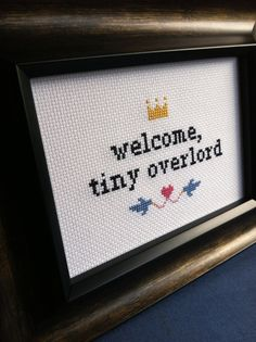 Looks like something @Carissa N would cross stitch... ;) Welcome Baby Cross Stitch by cspinney on Etsy, $30.00