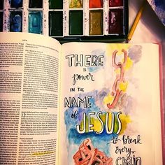 Jesus can break those chains that are binding you. He can take away the things that are weighing you down and making you so tired and broken. Give it to him! Call out for his help and he will answer! #chains #jesus #jesusart #jesuschrist #bibleart #bible #bibleartjournal #biblejournalingcommunity #biblejournaling #journaling #journalingbible #wirshipart#incouragearts