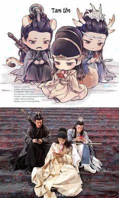 Read Chibi MDZS from the story Galeria Yaoi Mo Dao Zu Shi by (Jiang Cheng) with reads. Anime Chibi, Manga Anime, Anime Art, Drama Memes, Matou, Cute Chibi, Live Action, Anime Guys, Dramas