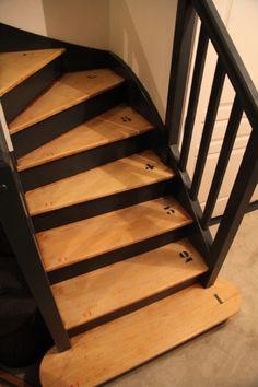 Un escalier relooké par www.initialdeco.fr