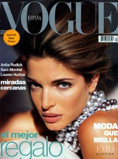 Cover of Vogue Spain with Stephanie Seymour, December 1991 (ID:10017)| Magazines | The FMD #lovefmd