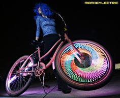 The MonkeyLectric LED light system.