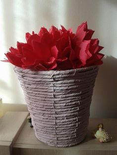 paper flowers Paper Flowers, Planter Pots