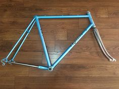VINTAGE BICICLETTA CORSA TELAIO  FRAME RACER ROSSIN RECORD CAMPAGNOLO REPAINTED