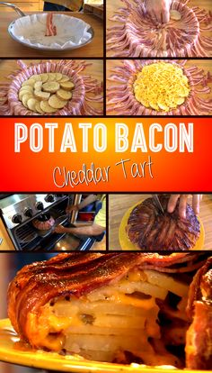 Potato Bacon Cheddar Tart – A Mouthwatering Meal That Is Easy To Make **skip potatoes = add cauliflower