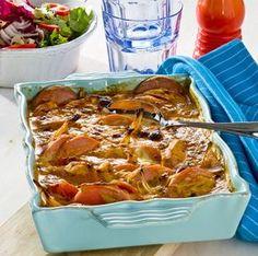 Krämig falukorv i ugn Keto Chili Recipe, Chili Recipes, Sausage Recipes, Cooking Recipes, Swedish Recipes, Everyday Food, Casserole Dishes, Food For Thought, Food Inspiration