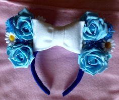 Minnie Mouse Ears Cinderella theme by CrazyBeautifulCreati on Etsy, $27.00