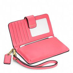 Coach :: MADISON LEATHER PHONE WALLET