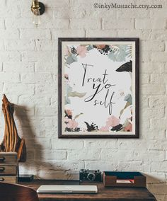 Parks and Recreation, parks and rec, Tom Haverford, Treat yo self, wall decor, home decor, digital print, art, print,instant download