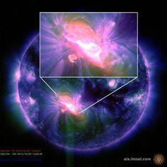UPDATE: X1.6-Flare schleuderte keine Plasmafackel Richtung Erde – Risiko weiterer starker Eruptionen weiterhin hoch   http://grenzwissenschaft-aktuell.blogspot.de/2014/10/update-x16-flare-schleuderte-keine.html  Abb.: NASA/SDO