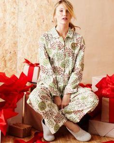 Womens Flannel Pajamas Garnet Hill My Christmas List Christmas Morning Flannel Pajamas