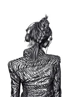 Yanni Floros Girls With Headphone Crossroads Illustration