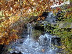 Waterfall in Brown County Indiana State Park.
