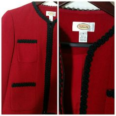 Talbots red / black suit skirt Talbots skirt suit sz 4 Skirts