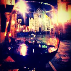Enjoying a young Chianti in the heart of Florence