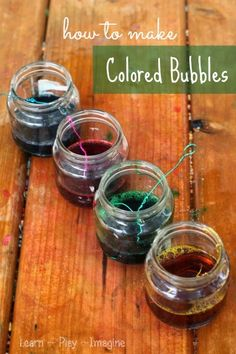 How to make colored bubbles - these are so much fun!