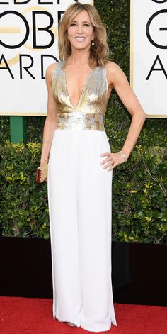 All the Glamorous Looks from the 2017 Golden Globes Red Carpet - Felicity Huffman from InStyle.com