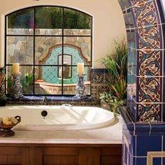 mediterranean bathroom by Maraya Droney Design