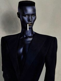 Grace Jones 1970s - well known cross-dresser, singer-songwriter, actress, and model.