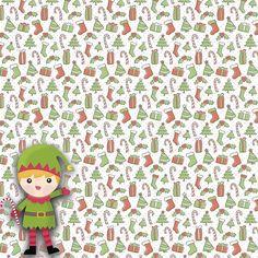 Tis' The Season: Santa's Little Helper 12 x 12 Paper