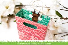 Hello and welcome to Lawn Fawn& September 2017 Inspiration Week! We are just so excited about this week! We are featuring 6 stamp set. Lawn Fawn Blog, 2017 Inspiration, Winter House, Goodie Bags, Deer, Christmas Crafts, Gift Wrapping, Treat Box, Treats
