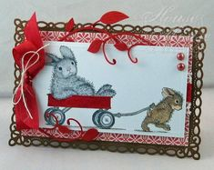 HMF #137 Driving Miss Bunny by Twinshappy - Cards and Paper Crafts at Splitcoaststampers