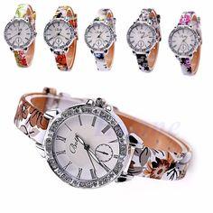 Fashion Women Leather Band Roman Numerals Stainless Steel Quartz Wrist Watch New #Unbranded #LuxuryDressStyles