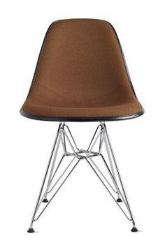 Eames® Upholstered Molded Fiberglass Wire-Base Side Chair (DFSR)  $579