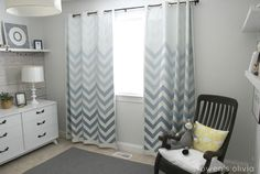 ombre chevron wall | Mood Board: Cozy Master Bedroom | The Caldwell Project
