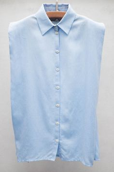 Nanushka Blue Sleeveless Shirt